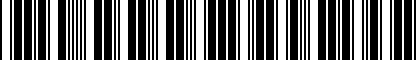 Barcode for 5G0071801