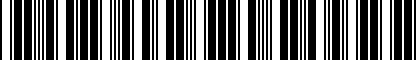 Barcode for NPN075027